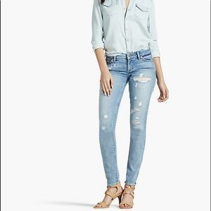 Lolita skinny jeans with embroidery back pockets